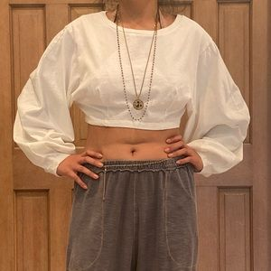 Urban outfitters crop cream sweater